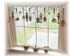 Good Reserved For Stacia Romancing The Window Vintage Silverplate Kitchen Window  Treatment Valance