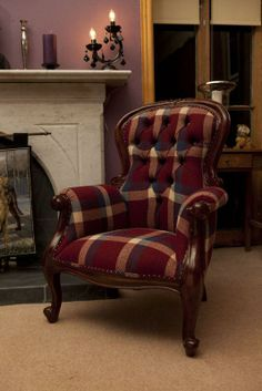 Loch Ness Furniture @Tweed_Style - Love the concept! My fave #chair in the lounge,loved for it's use of #Scottish #Tweed and being handcrafted