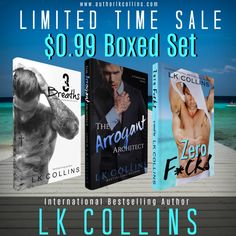 International Best-SellingAuthor LK CollinsLIMITED TIME#KINDLE #COUNTDOWN #DEAL  Our 3 book stand-alone boxed set is on sale for $0.99 from its normal price of $4.99. In this boxed set youll meet Krane a naughty Mixed Martial Arts fighter; King an arrogant and oh-so-controlling architect; and Nixon an alpha US Coast Guard. All who are struggling with their own demons while learning to love again.  US-http://amzn.to/2xJWoLK UK-http://amzn.eu/gCLIpNh  Grab your copy today we promise these guys…