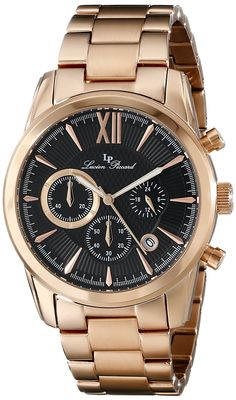 Lucien Piccard Men's LP-12356-RG-11 Mulhacen Analog Display Japanese Quartz Rose Gold Watch * Be sure to check out this awesome product.