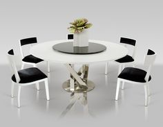 2019 Modern Round Dining Table and Chairs - Luxury Modern Furniture Check more at http://www.ezeebreathe.com/modern-round-dining-table-and-chairs/