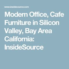 Modern Office, Cafe Furniture in Silicon Valley, Bay Area California: InsideSource Reception Furniture, Cafe Furniture, Office Furniture, Tiny Home Office, Bay Area, California, Modern, Trendy Tree