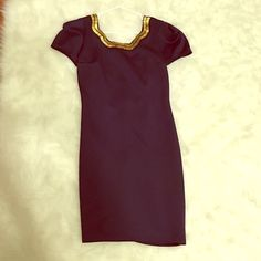 Nordstrom Bodycon navy gold sexy dress NWT never worn bought it at Nordstrom for 198$ Moon Collection Dresses Mini