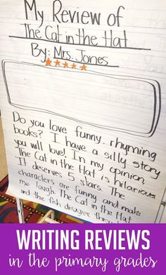 Teach your first grade students how to write reviews of their favorite restaurants, books, toys, etc.! Students love to critique different things and share their opinions with reviews. Click over to the post to read ideas and activities for first and second graders during this unit of writer's workshop.