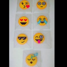 Emojis perler beads by  sensation_creations
