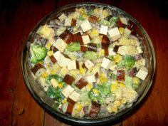 Smoked tofu salad is a vegan delicacy brimming with interesting flavors and health benefits. Tofu Salad, Smoke, Vegan, Health, Glass, Recipes, Food, Health Care, Drinkware