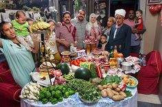 What the world eats - The Ahmed family of Cairo. Favorite food: Okra and mutton