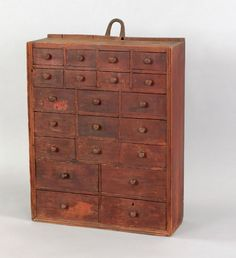 New England pine hanging apothecary cabinet, early 19th c., 29.5 h. x 23.5 w.