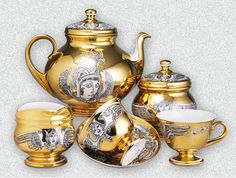 Endre Szász work - porcelain tea set - Hungary