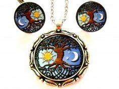 Strom života,den a noc. Pocket Watch, Pendant Necklace, Accessories, Jewelry, Jewlery, Jewerly, Schmuck, Jewels, Jewelery