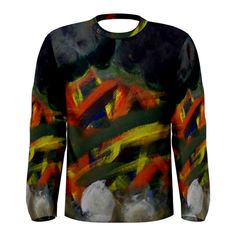 All appleartcom's products are from the original paintings of the artist/designer Jocelyn Apple. Kindly see: (www.facebook.com/appleartcom)    (www.cowcow.com/appleartcom). La Tristesse Men's Long Sleeve Tee by Jocelyn APple/Appleartcom. Tackle winter in style with this fully uniquely designed long sleeve t-shirt just for you!