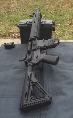 """backwashplaid: """"Just remember: to become a veteran, they had to be able to hit a target at 300 meters with iron sights."""" My mock Dissipator AR. The shooting mat is actually a spare barrel bag for a 240 that I use as my soft case. Tactical Rifles, Firearms, Tactical Survival, Weapons Guns, Guns And Ammo, Shooting Guns, Shooting Mat, Ar Rifle, Iron Sights"""