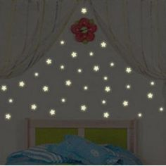 Hot Sale 100 Pcs Home Wall Glow In The Dark Star Stickers Decal Baby Kids Gift Nursery Room #45174 $4.40