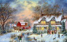 Winter Fun ~ Dennis Patrick Lewan - love his art!