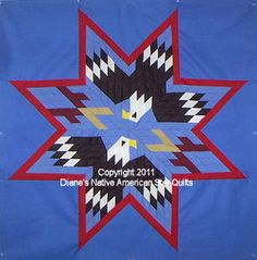 Dancing Eagles Star Quilt Pattern | Dancing Eagles Native American Lone Star Quilt Pattern | eBay