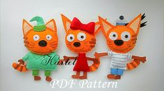 Excited to share the latest addition to my #etsy shop: Three cats Felt soft toy Felt doll Sewing PDF Pattern Felt Toy Soft Toy PDF Felt Pattern Instant Download Baby Sewing Pattern http://etsy.me/2BEgQvw #materialy #ite #feltcat #smasterimka #feltsofttoy #sewingpdfpatt