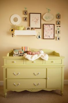DIY changing table. Going to do this I think when we move :)