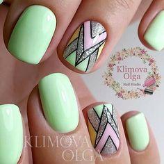 Beautiful summer nails, Foil nail art, Geometric nails, Ideas for short nails… Nail Art Design Gallery, Best Nail Art Designs, Foil Nail Art, Foil Nails, Nail Art Modele, Manicure, Geometric Nail Art, Trendy Nail Art, Super Nails