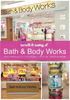 Secrets to saving money at Bath and Body Works! Free Products, Coupons, and Special Sales! Frugal Living Ideas Frugal Living Tips #frugal