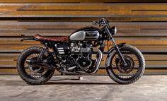 "Triumph Brat Style ""Black Baron"" by Macco Motors #motorcycles #bratstyle #motos   caferacerpasion.com"
