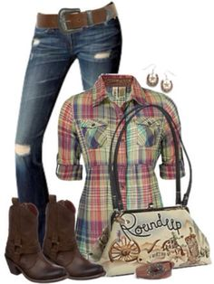 Country girl outfit:) i have the same shirt!!