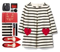 """""""#1087 Gracie"""" by blueberrylexie ❤ liked on Polyvore featuring Kate Spade, NARS Cosmetics, Gucci, Charlotte Olympia, Bobbi Brown Cosmetics, Fuji, Cara and Noir Jewelry"""