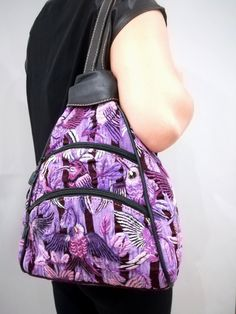 Our Purple Bird Mini Backpack features gorgeous floral and avian handmade embroidery from Guatemala. It is truly a work of art. A one-of-a-kind backpack with dazzling originality that will shine with any outfit. Purple Bird, Mini Backpack, Handmade Design, Handmade Bags, Tote Bags, Clutches, Backpacks, Handbags, Embroidery