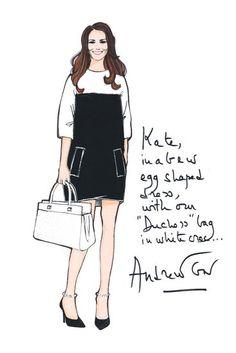 Kate Middleton Maternity Clothes   Designer Sketches
