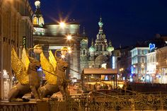 Major Highlights of Griboedov Canal: Bank Bridge, Kazan Cathedral, St. Petersburg