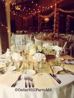 Rehearsal Dinner Weddings And Receptions Cedar Hill Farm Hernando Ms Www