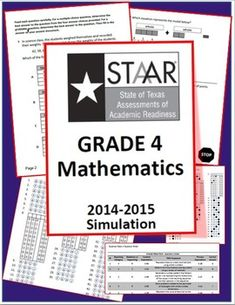 Unlike last year's released test, this 4th Grade STAAR practice test is aligned to the new TEKS.  It follows the current blueprint and is created to look and feel like the real thing!CREATED BY A FOURTH GRADE MATH TEACHER IN TEXAS PUBLIC SCHOOLSINCLUDED:~1 simulation test (45 original multiple choice questions and 3 original griddable questions) QUESTIONS ARE HIGHLY RIGOROUS AND DUAL-CODED!~1 student answer document ~Answer document key~Question Data (sorted by question number OR TEKS)…