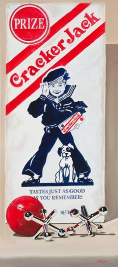 Cracker Jacks --back when the prizes were really fun, and there were more than 3 peanuts in the box!