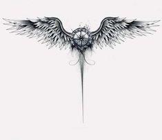 Arm tattoo, wing tattoos on back, chest tattoo, map tattoos, spine tattoos Map Tattoos, Eagle Tattoos, Spine Tattoos, Body Art Tattoos, Sleeve Tattoos, Tattoo Art, Tattoo Quotes, Lion Tattoo, Wing Tattoo Designs