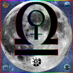 Libra & Moon with the symbol of the Cosmic Butterfly