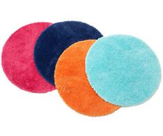 Decorations! Take these out of the bathroom, and polka-dot the floor with cute circular rugs that come in nine bright colors.