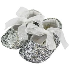 e047d6c0b8bd7 £14.99 Sparkly silver baby shoes available at Children's Outlet Baby Girl  Shoes, Girls Shoes