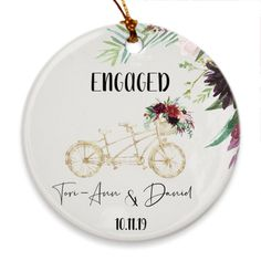 Personalized Engagement Gifts, Personalized Gifts, Handmade Gifts, First Christmas Ornament, Christmas Gifts, Wedding Decorations, Wedding Ideas, Wedding Gifts For Couples, Wedding Keepsakes