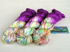 """""""LolliPop""""  Luxus-Sockenwolle handgefärbt von PondeRosa-Wolle auf DaWanda.com"""