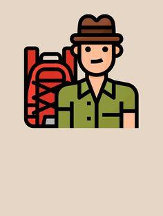 """Cute Traveler Tourist Boy Hobby Avatar"" T-shirt by passionemporium Avatar Cartoon, Tshirt Colors, Cute Boys, Female Models, Classic T Shirts, First Love, Animation, School, Fabric"