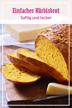 Baking pumpkin bread - the best recipe DELICIOUS Kürbisbrot backen - das beste Rezept Healthy Dessert Recipes, Health Desserts, Healthy Baking, Baking Recipes, Cupcake Recipes, Bread Recipes, Baked Pumpkin, Pumpkin Bread, Pumpkin Recipes