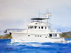 Custom Yacht and Boat Portraits by lauratrevey on Etsy