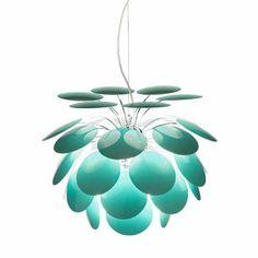 Diese wunderschöne Discocó Color Pendelleuchte wurde 2008 von Christophe Mathieu für den Leuchten Hersteller Marset kreiert.