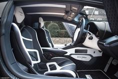 Flash: Billionaire art collector James Stunt, whose father-in-law is Formula One chief executive Bernie Ecclestone, has bought a one-off carbon fibre Lamborghini Aventador which has been customised by German firm Mansory. The interior of the J.S. 1 Edition is pictured