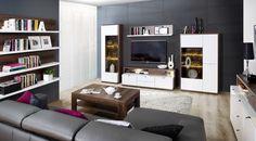 Alege o gama de mobilier nou din import de la Detolit Company care sa iti ofere confort si eleganta Bookcase, House Design, Shelves, Living Room, Furniture, Home Decor, Ua, Ideas, Poland