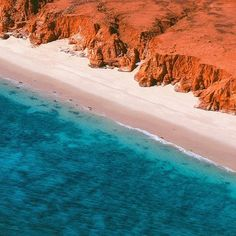 """@thekimberleyaustralia: """"The unique pindan cliffs and clear turquoise waters of Cape Leveque located on the Dampier Peninsula north of #Broome. How amazing is the contrast in colours? Tag someone you would love to take here. Photo: @bjk_photo.  #thekimberleyaustralia"""""""