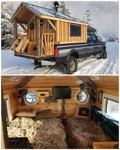 Truck Bed Camper, Camper Van, Woodworking Images, Mercedes Vito, Cozy Place, Tiny House On Wheels, Van Life, Recreational Vehicles, Cool Stuff