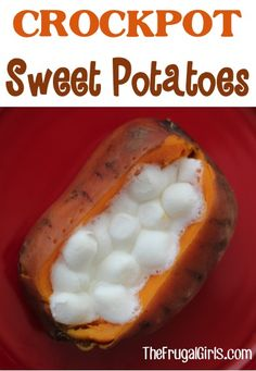 How to Make Crockpot Sweet Potatoes - at TheFrugalGirls.com