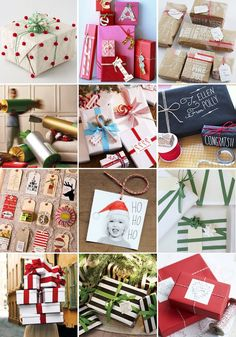A list of 42 inspirational and creative ways to wrap gifts for holidays, birthdays, and other events. | Hellobee
