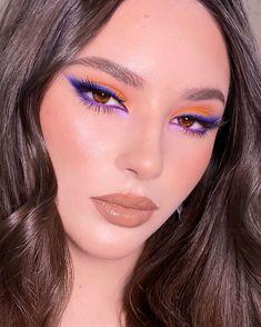 """Визажист Челябинск 💜 GRIMERKA on Instagram: """"Макияж с сегодняшнего прямого эфира в закрытом марафоне @online_mua 💜 Как вам такое сочетание цветов? ⠀ Как здорово что мы все такие…"""" Edgy Makeup, Sultry Makeup, Makeup Eye Looks, Glam Makeup Look, Flawless Makeup, Cute Makeup, Gorgeous Makeup, Pretty Makeup, Hair Makeup"""