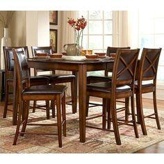 San Francisco 5-Piece Dining Set in Rustic Oak Finish